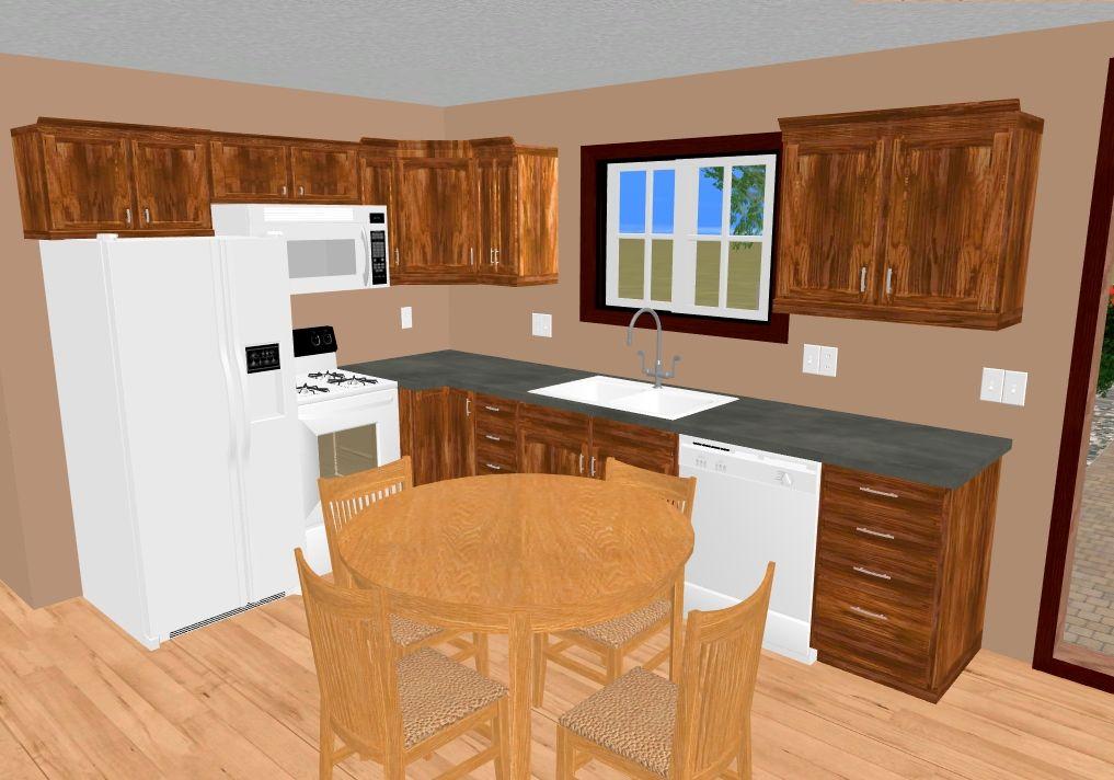 The L Kitchen Of The 505 Sq Ft Mt Kiska Sweet Home