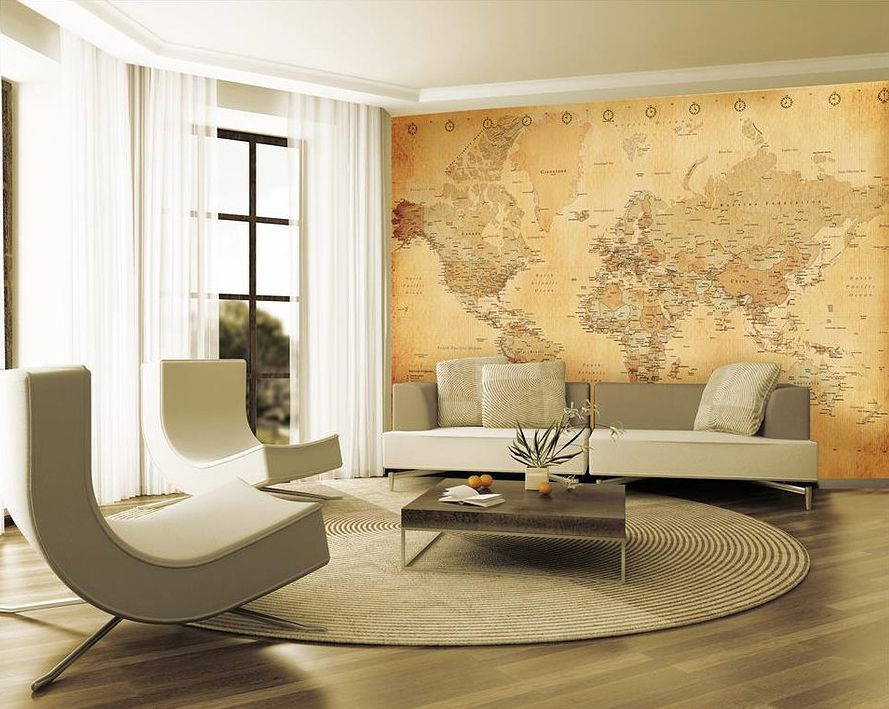 Wallpaper mural photo giant wall decor paper poster living room bed ...