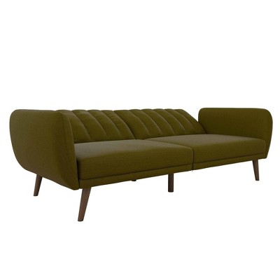 Brittany Linen Futon Green Novogratz Convertible Sofa Sofa Futon