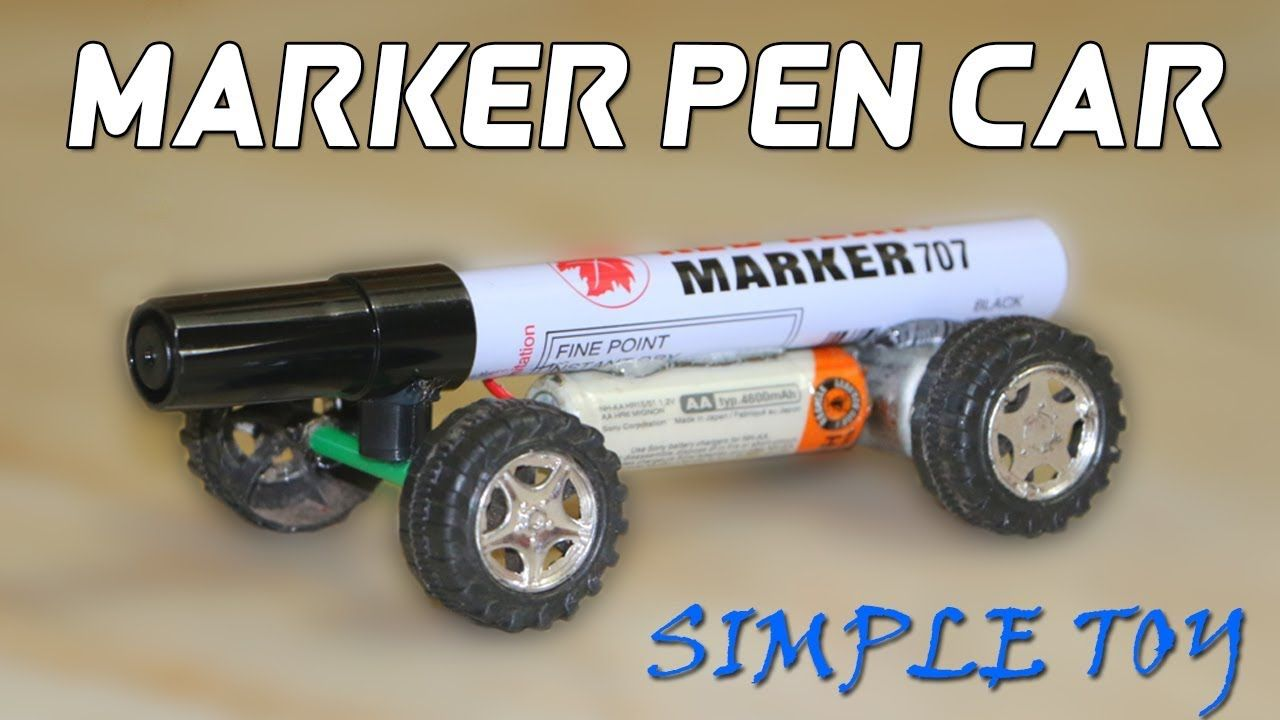 How To Make A Toy Car Using Marker Pen Powered Car Very Simple