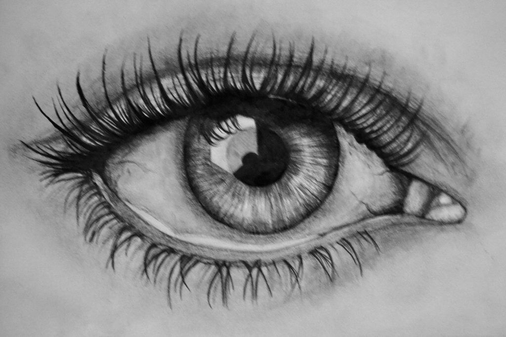 This drawing of an eye is so perfectly realistic amazing