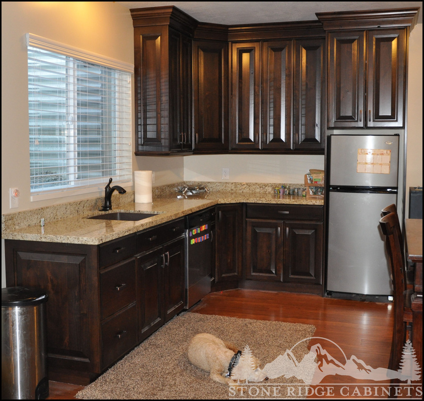 Dark Walnut Stone Ridge Cabinets Modern Walnut Kitchen Walnut Kitchen Cabinets Custom Kitchen Cabinets