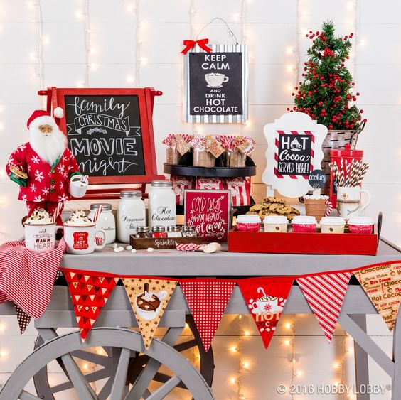 Hot Chocolate Bar Ideas #hotchocolatebar