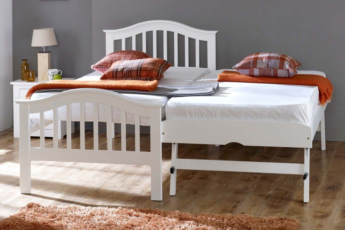 Heywood White Solid Wood Guest Bed - 3ft Single | White ...