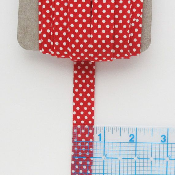 Red And White Polka Dot Quilt Binding