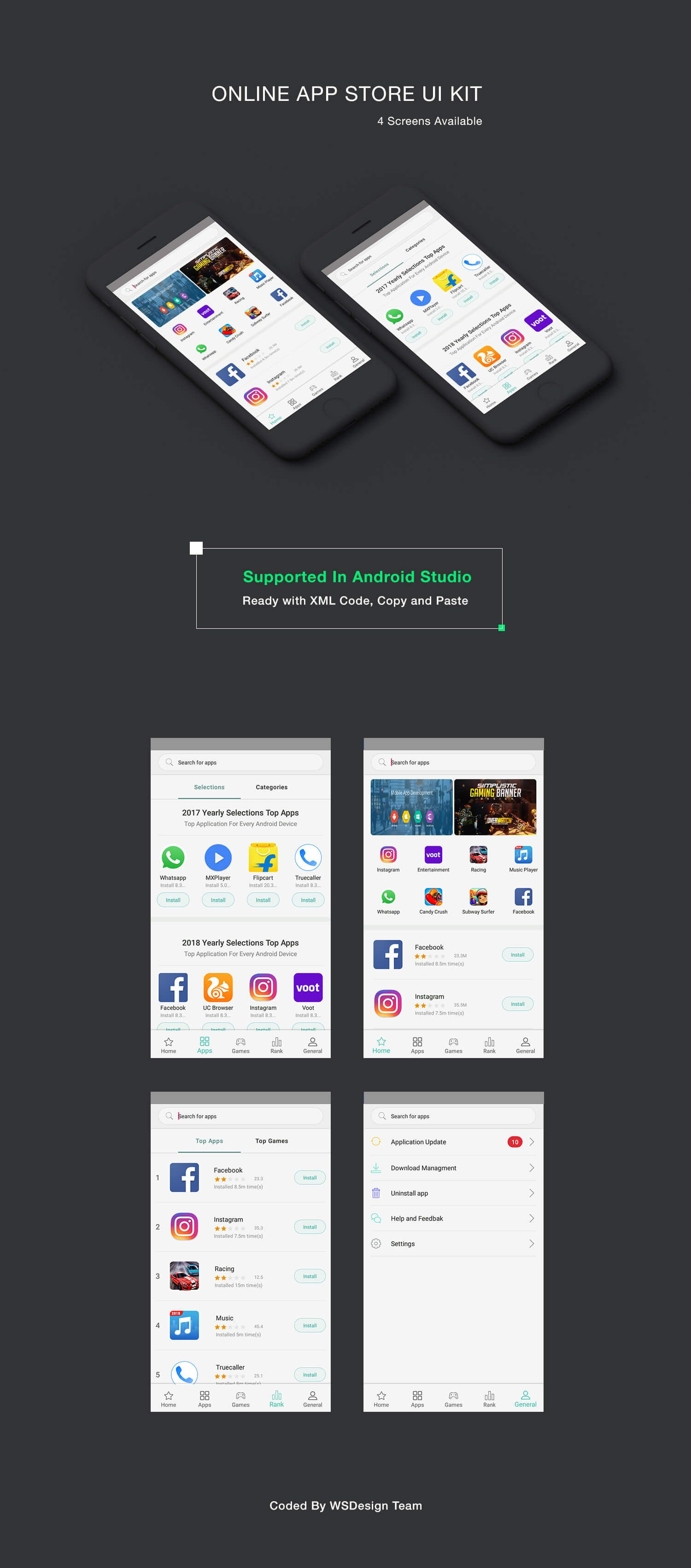 online app store UI KIT, supported in android studio  Download