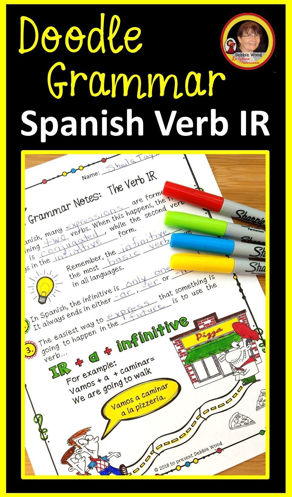 Teach Your Student The Spanish Verb Ir With These Engaging Spanish Doodle Notes And Worksheets This Is A Creative Metho Learning Spanish Spanish Verbs Spanish [ 1632 x 960 Pixel ]