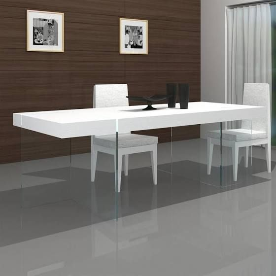 White Lacquer Square Dining Table Modern Dining Table Unique