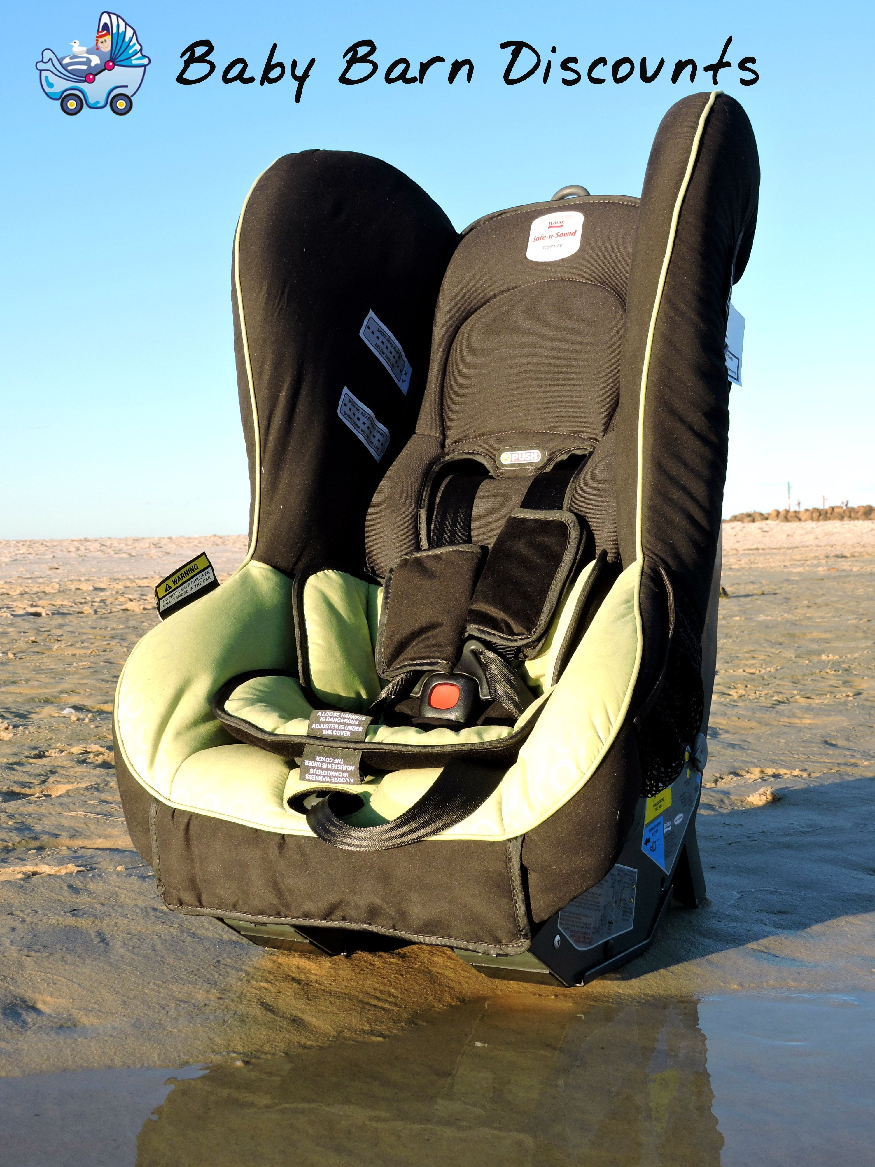 The Safe N Sound Compaq Mkii Convertible Car Seat Green Slim Line