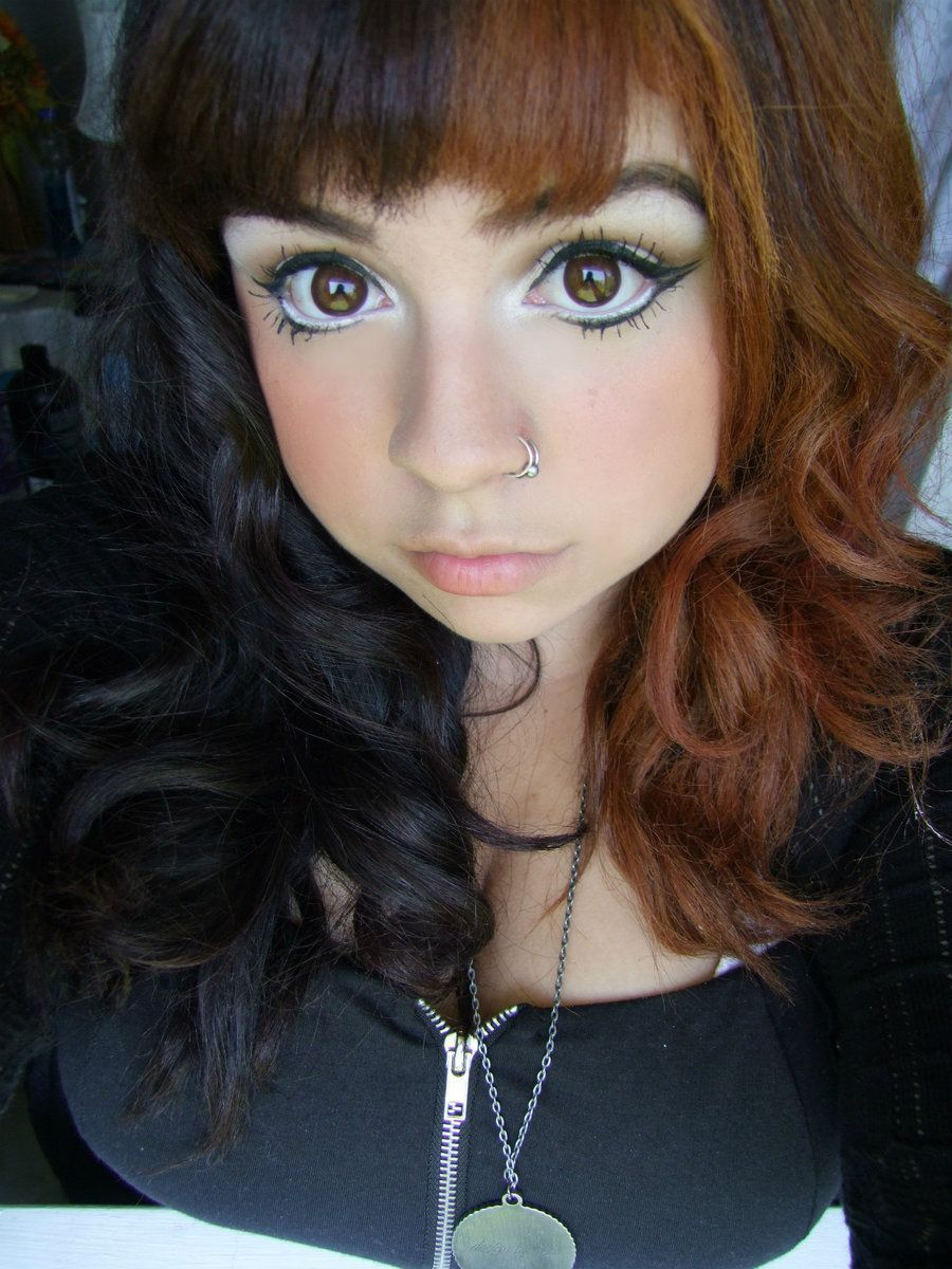Half Brown Ombre Dyed Hair Ideas Hair Color For Black Hair Black Hair Dye Half Colored Hair