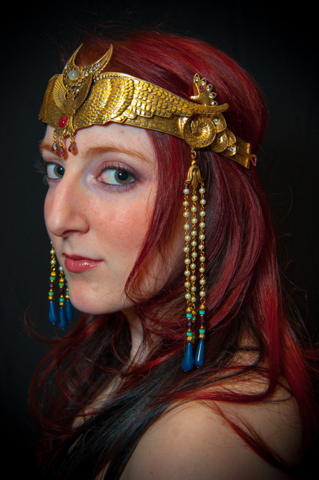 Egyptian Goddess Winged Isis Moon Crown By