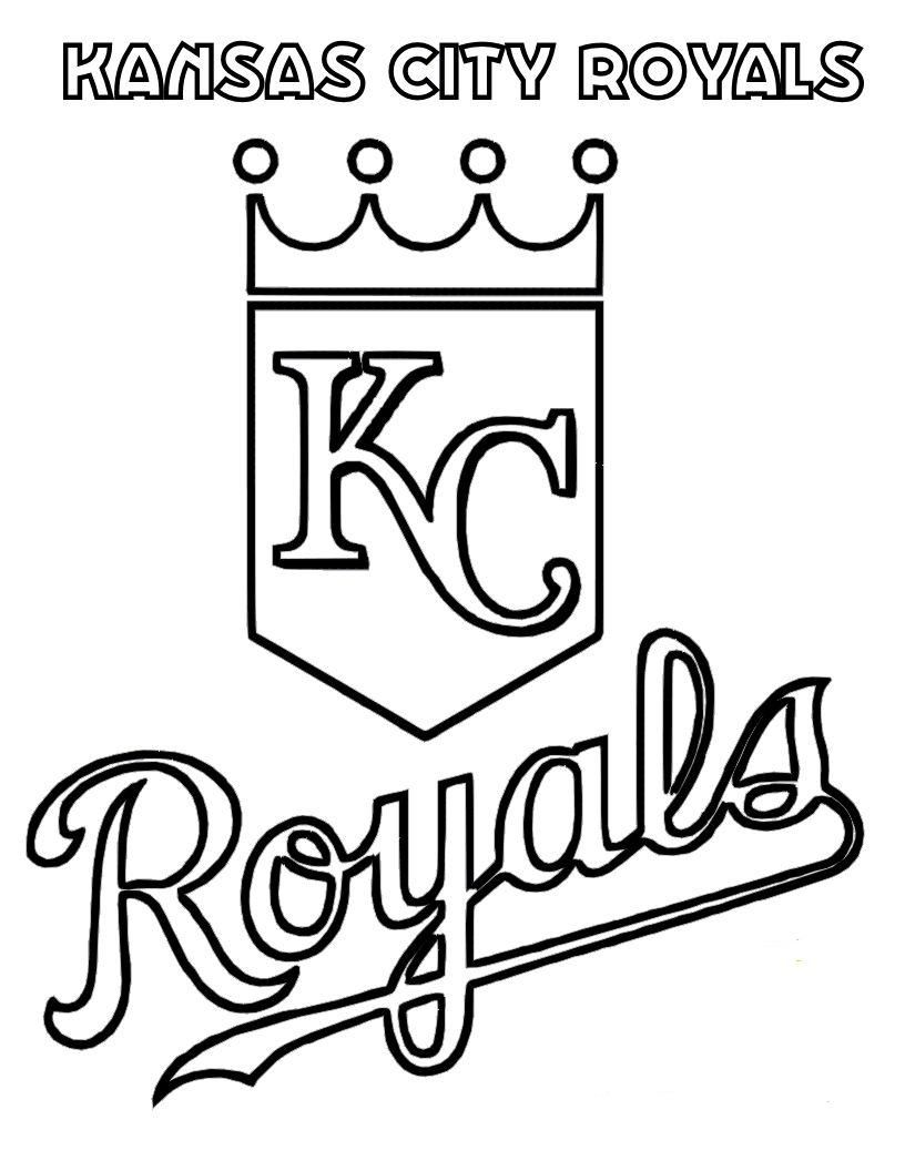 06 Kansas City Royals Baseball Coloring At Pages Book For Kids Boys 816x1056