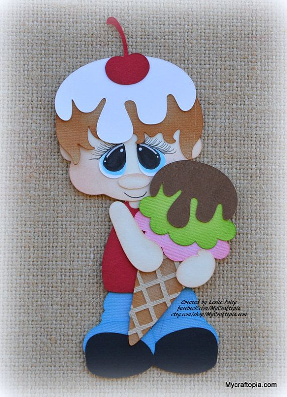 COOKIE BOY Embellishment Paper Piecing card toppers and scrapbooking