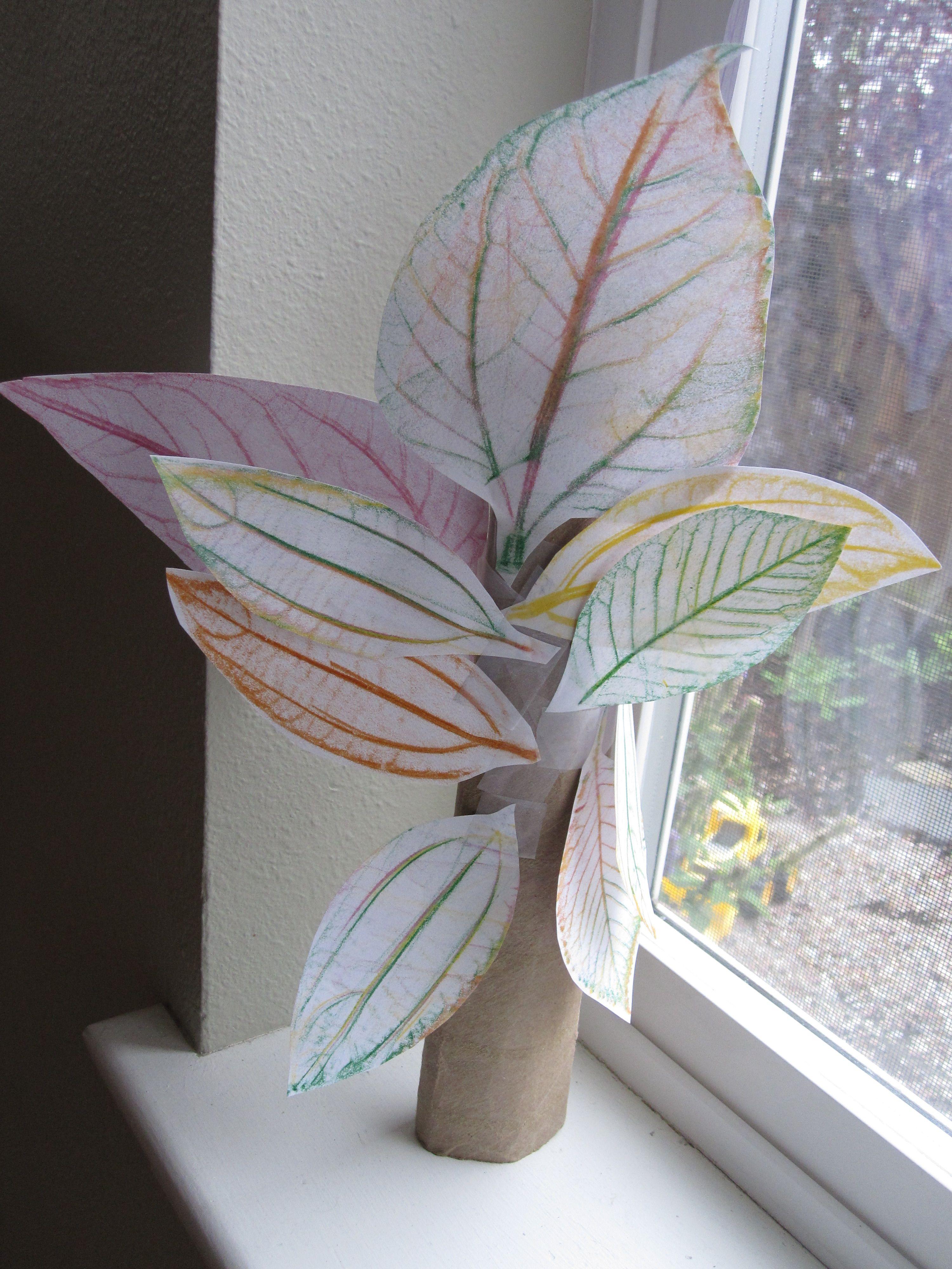 Leaf Rubbing Tree Craft