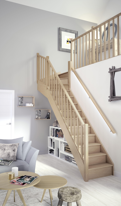 Escalier Standard Ou Escalier Sur Mesure Escalier Bois Escalier Quart Tournant Haut Et Maison