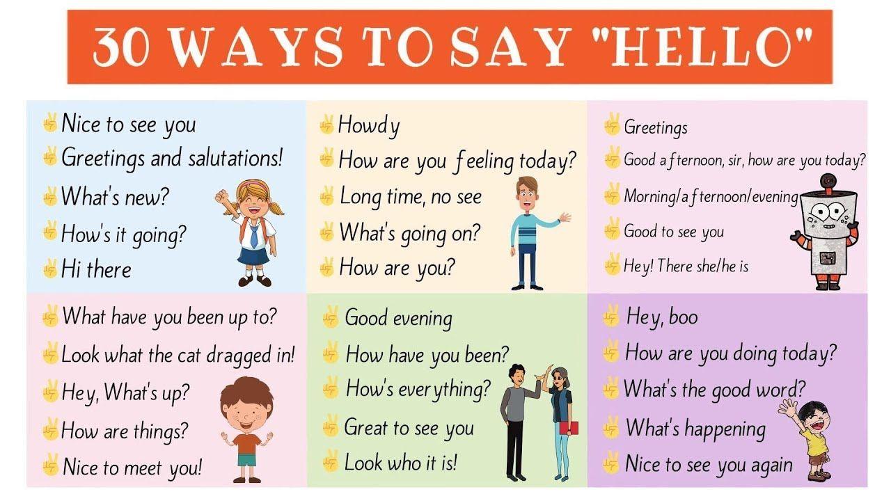 30 ways to say hello 30 useful english greetings for