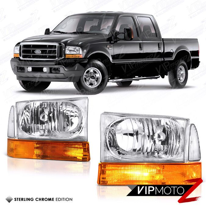 1999 2004 Ford F250 F350 F450 Superduty Factory Style Headlights Bumper Lamps Ford F250 F250 Headlights