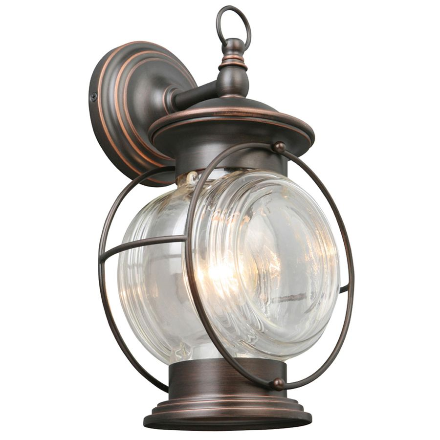 Portfolio Caliburn 13 62 In H Oil Rubbed Bronze Outdoor Wall Light At Lowes