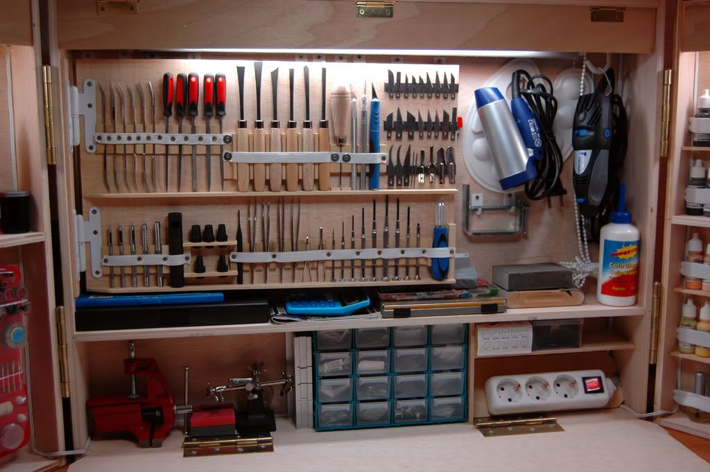 Mi maleta taller mesas de trabajo pinterest maletas - Tablero para herramientas ...