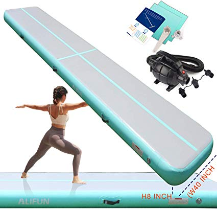 Amazon Com Inflatable Gymnastics Airtrack Tumbling Mat 3ft 10ft 13ft 16ft For Toddler Adults Gymnastics Air Floor Yo With Images Cheerleading Sports Training Gymnastics