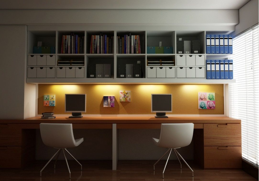 computer furniture design for new branch office wooden desk for two people white chairs floor study furniture design16 furniture
