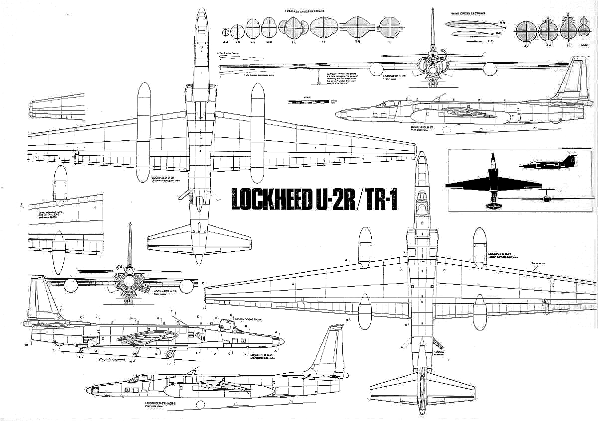 diagrams u 2 spy plane scale drawings military aircraft nasa cutaway  [ 1200 x 846 Pixel ]