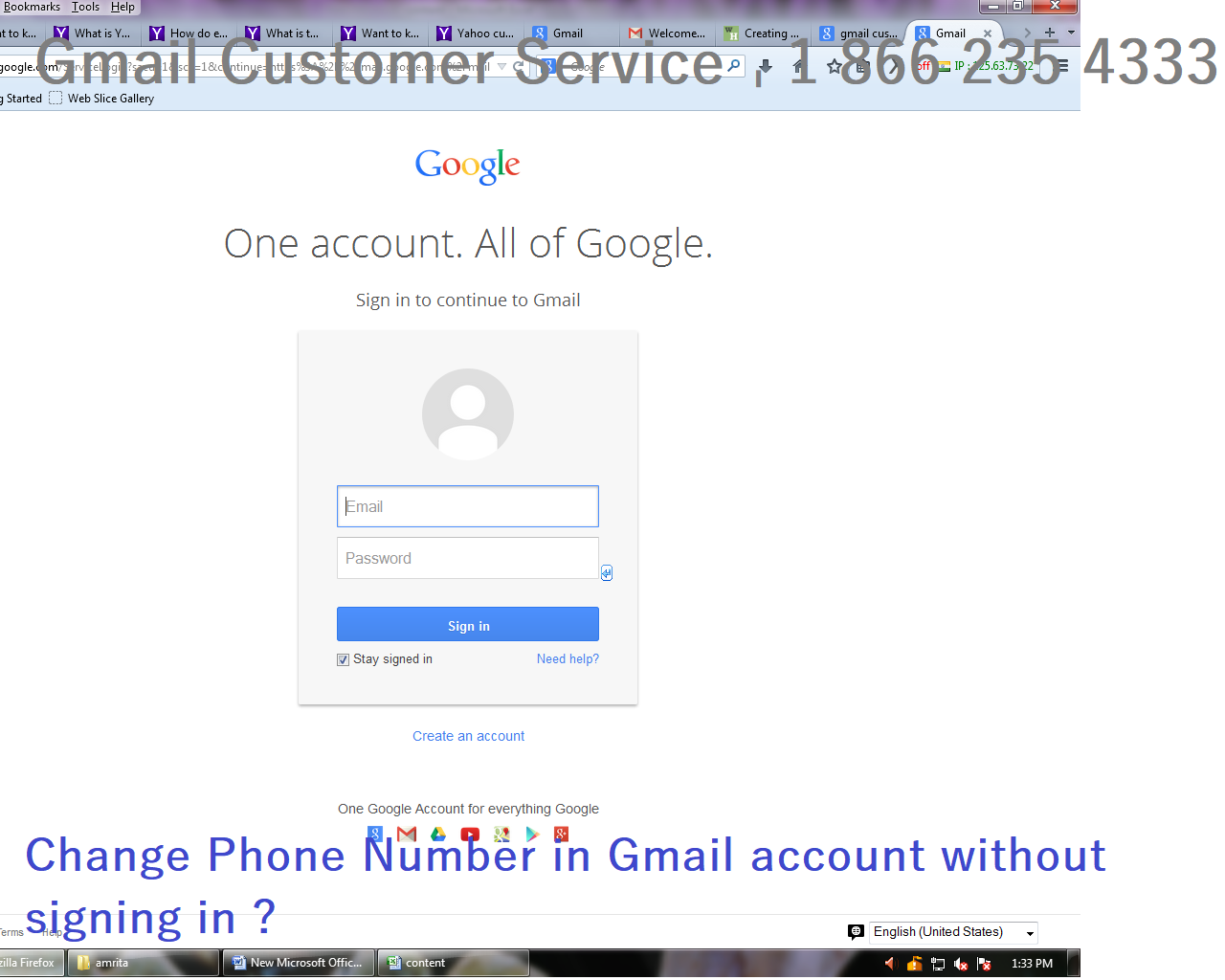 Change Phone Number In Gmail Account Without Signing In Phone Numbers Phone Gmail