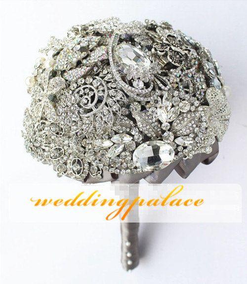 2013 LARGE Royal Crystal Bouquet  unique bridal by WeddingPalace, $329.00