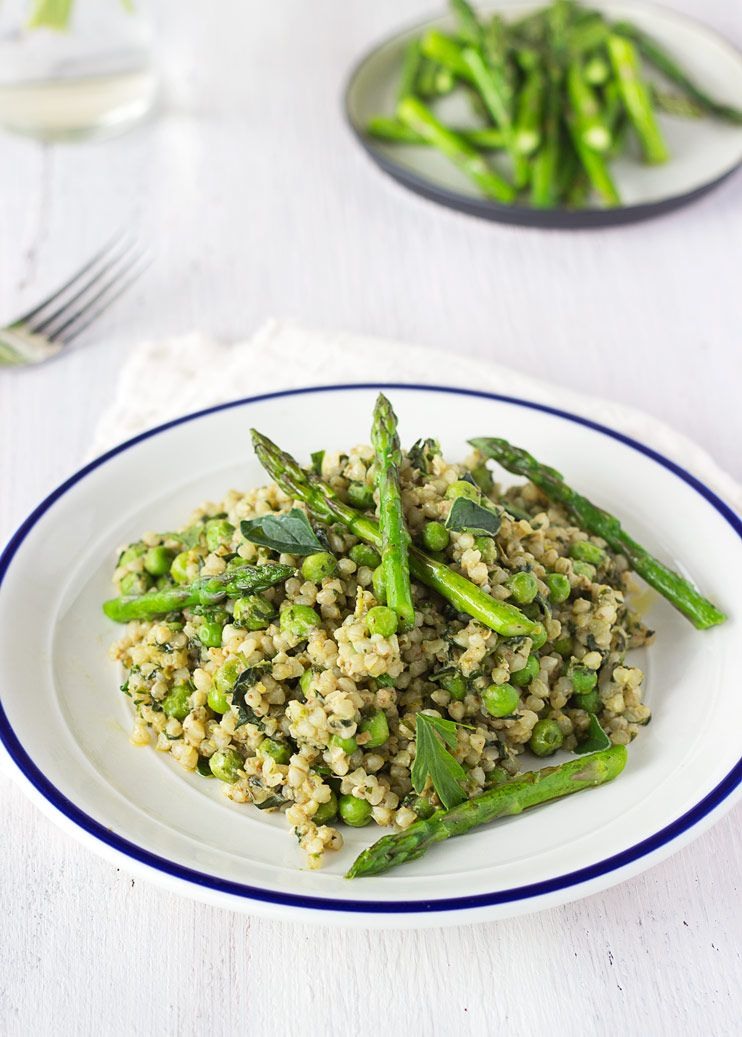 Springtime Buckwheat Risotto