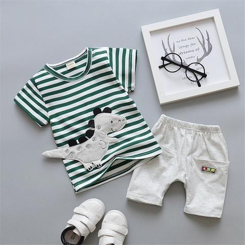 b2d0a25525cf BibiCola summer baby boy clothes infant cartoon clothing set t-shirt ...
