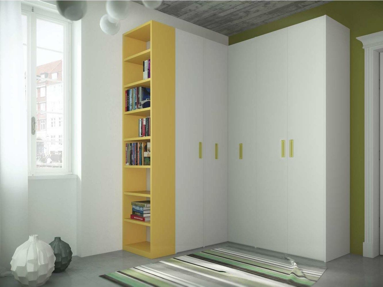 corner wardrobe for kids bedrooms tiramolla 917 a by