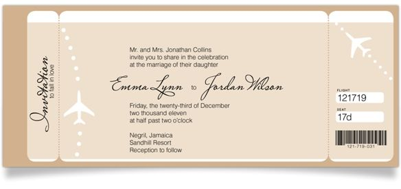 Destination Wedding Invitation Wording Samples: Private Ceremony, Reception Later