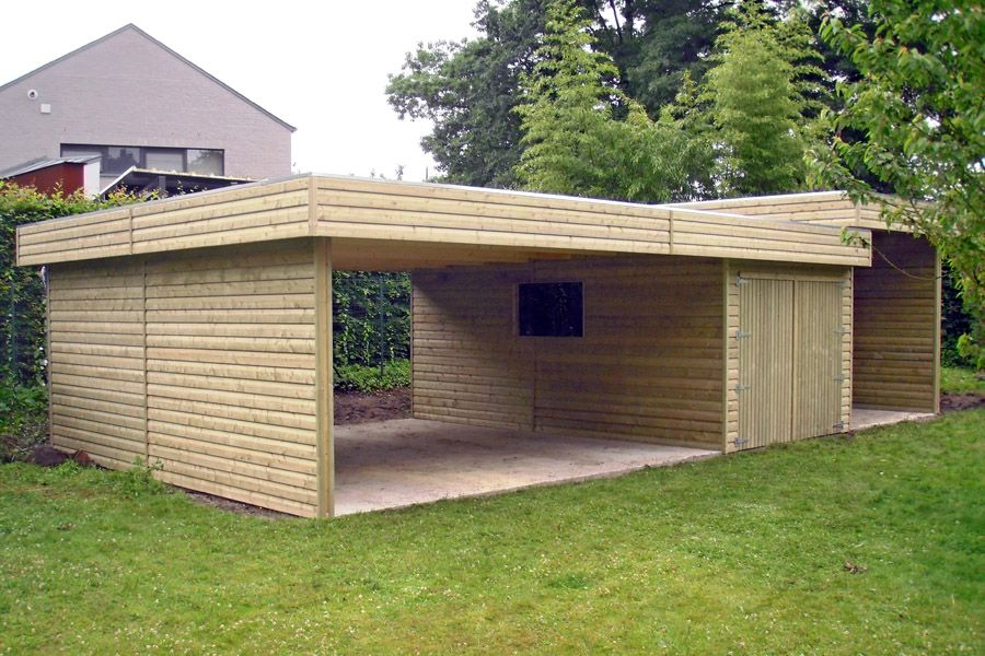 carport moderne importgarden construction en bois toit plat greenhouse sheds pinterest. Black Bedroom Furniture Sets. Home Design Ideas
