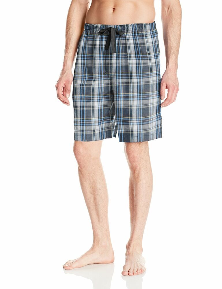 Nautica Men's Solid Drawstring L Pajama Shorts Loungewear Black NWT
