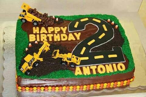 Tonka Truck Cake With Images Truck Birthday Cakes