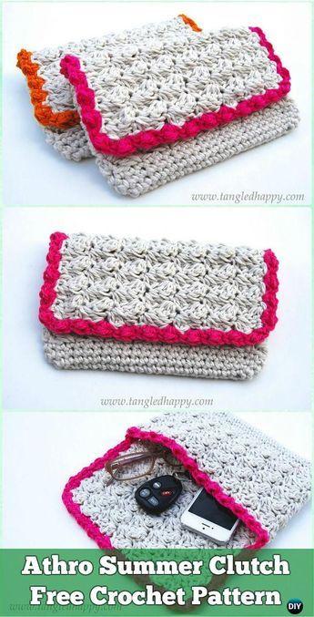 Crochet Athro Summer Clutch Free Pattern - Crochet Clutch Bag ...