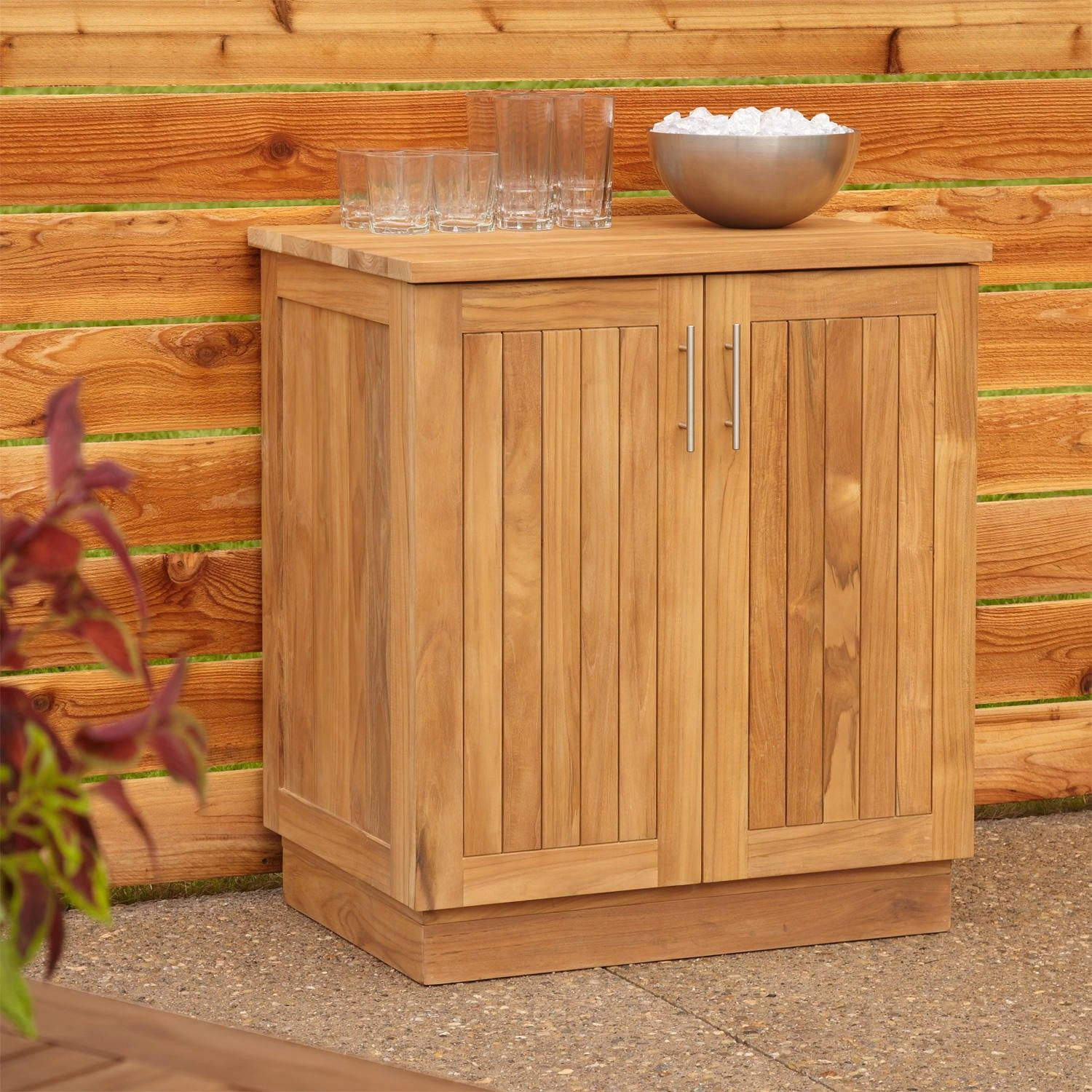 Enjoy More Storage When You Entertain Outdoors With The Artois Teak Cabinet This Useful Offers Ious Room For Stowing Extra Drinks
