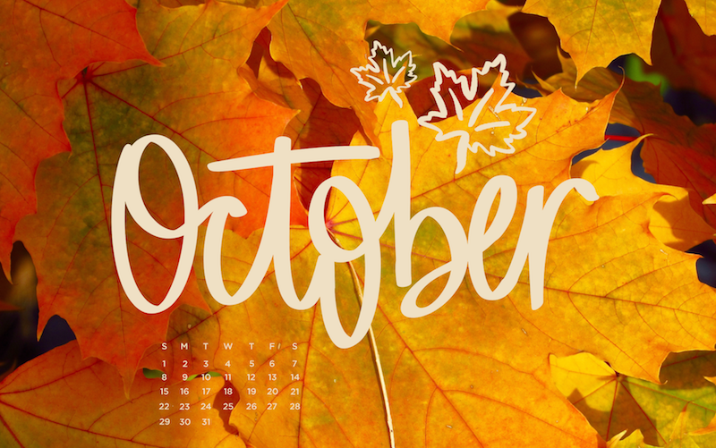 Free, Downloadable Tech Backgrounds for October! | The Everygirl | Tech  background, Background, October
