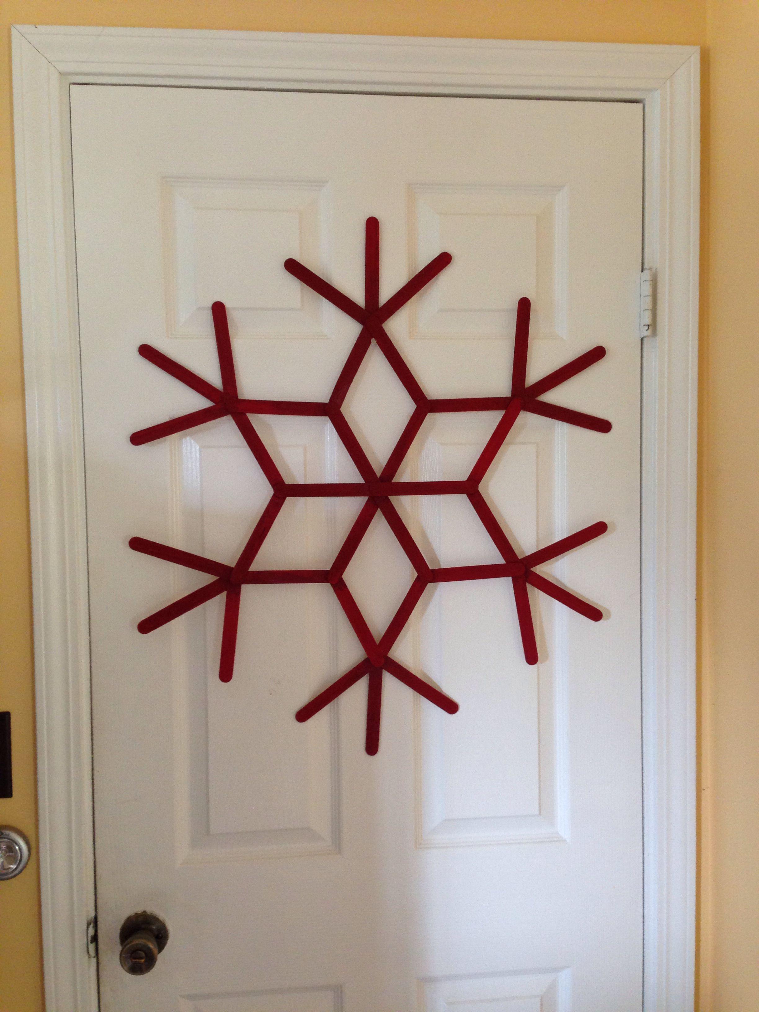 Popsicle stick snowflakes Nailed it Pinterest