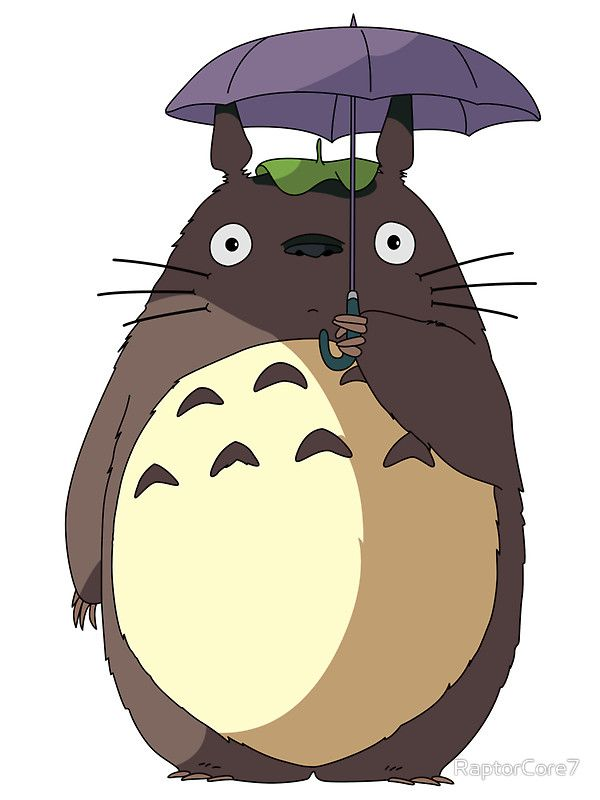 My neighbour totoro umbrella totoro stickers by raptorcore7