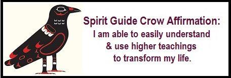 Animal Spirit Guide Crow Affirmation. balancedwomensblog.com