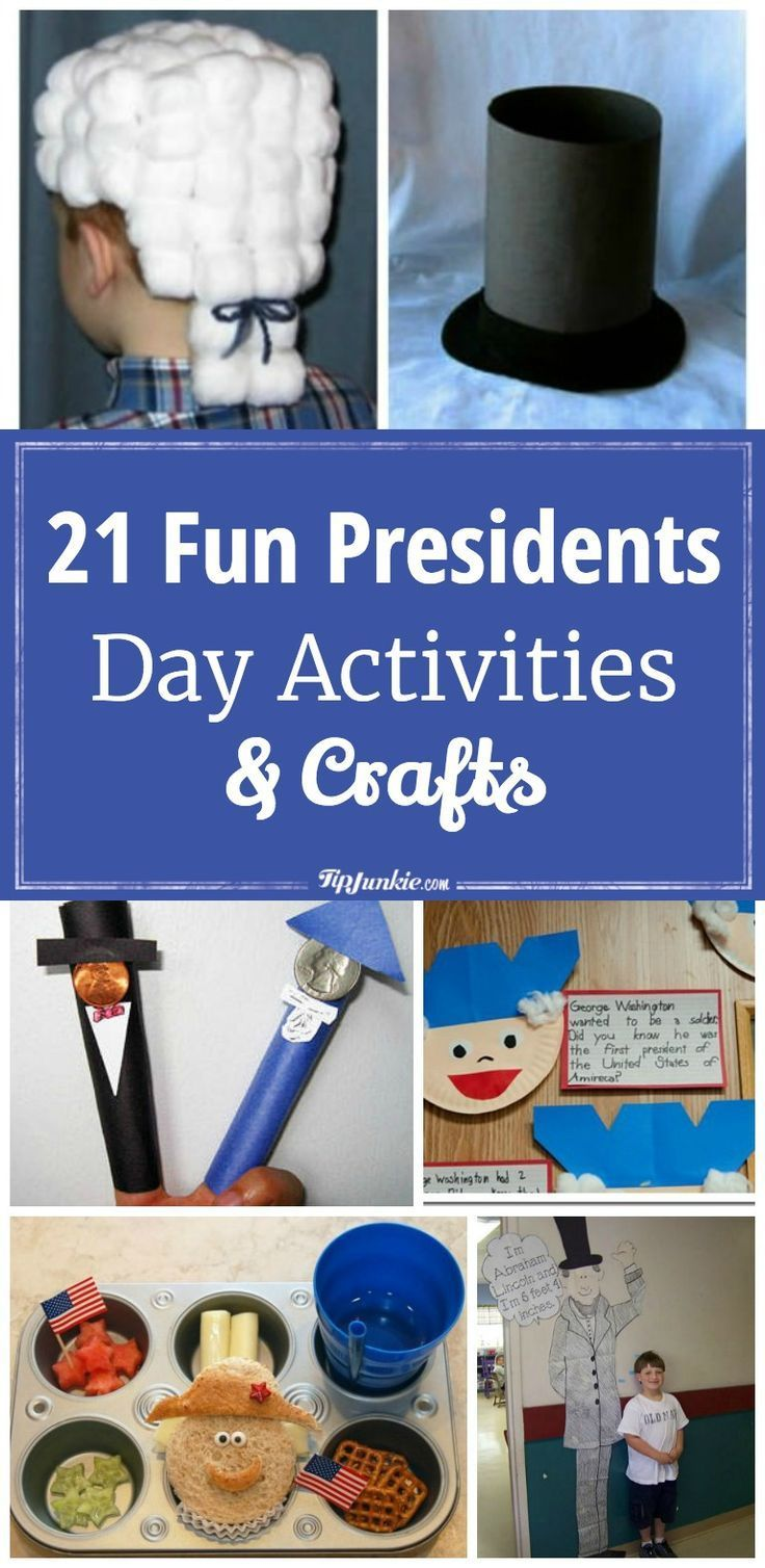 21 Fun Presidents Day Activities and Crafts #presidents