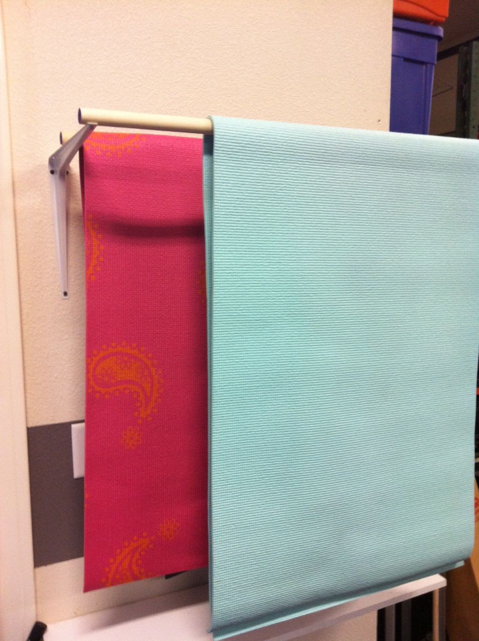 A Great Way To Dry And Store Your Yoga Mat This Yoga Mat