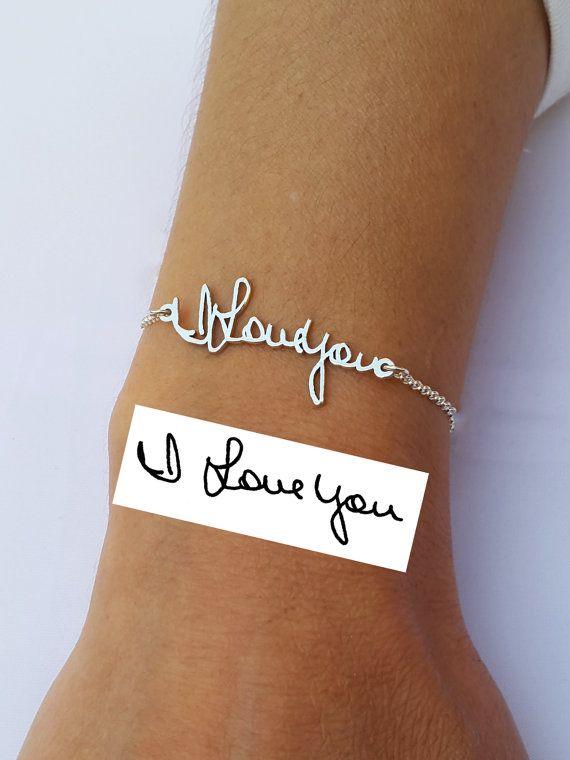 prix attractif capture dernière collection Memorial Bracelet - Personalized Signature Bracelet ...