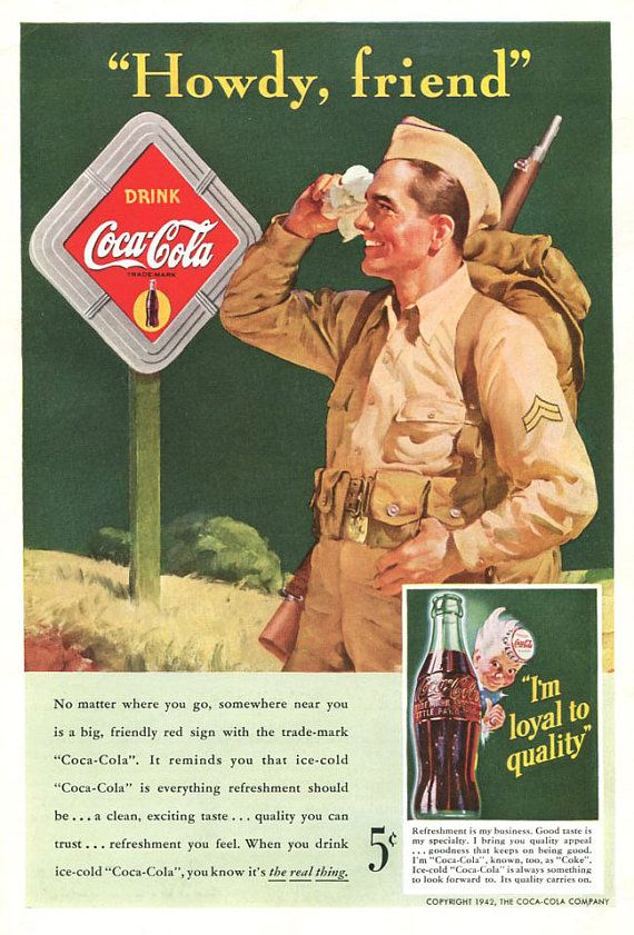 1940s World War Two Military Theme Coke Ad And Lockheed Ad