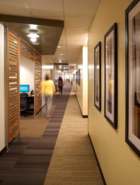 how to break up a long narrow hallway