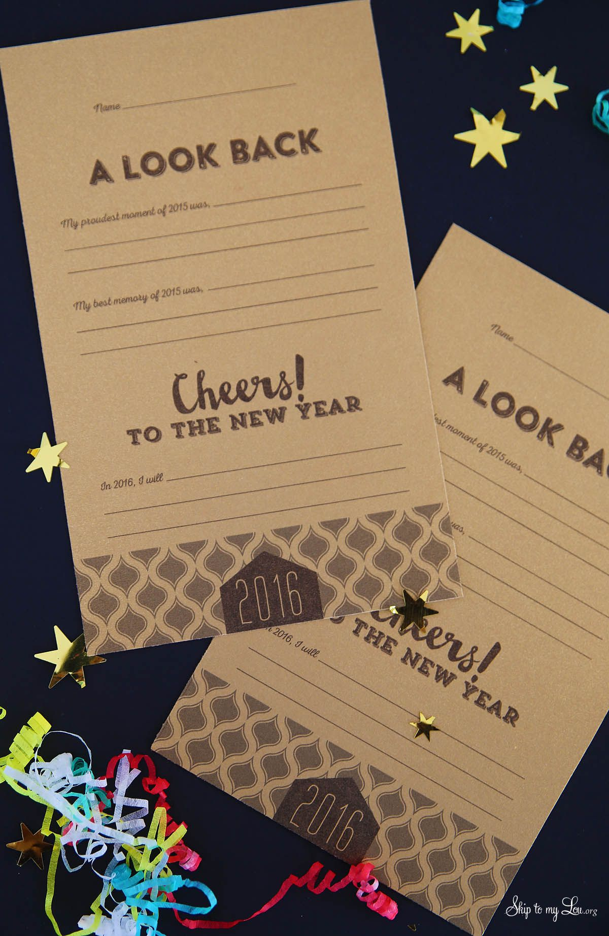 New Years Eve Free Printable Resolution Cards And Look