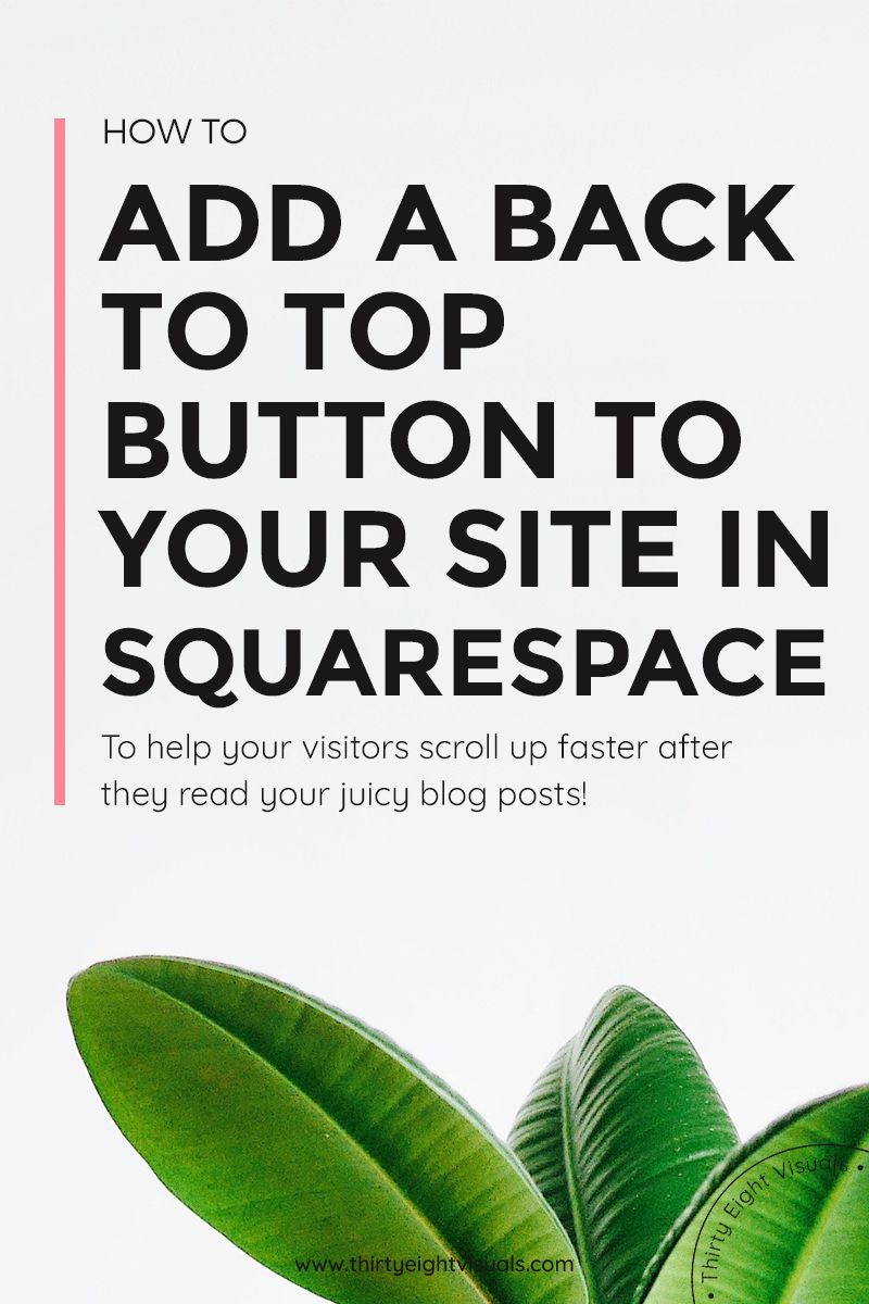 Adding a back to top button to your Squarespace template | Back to ...