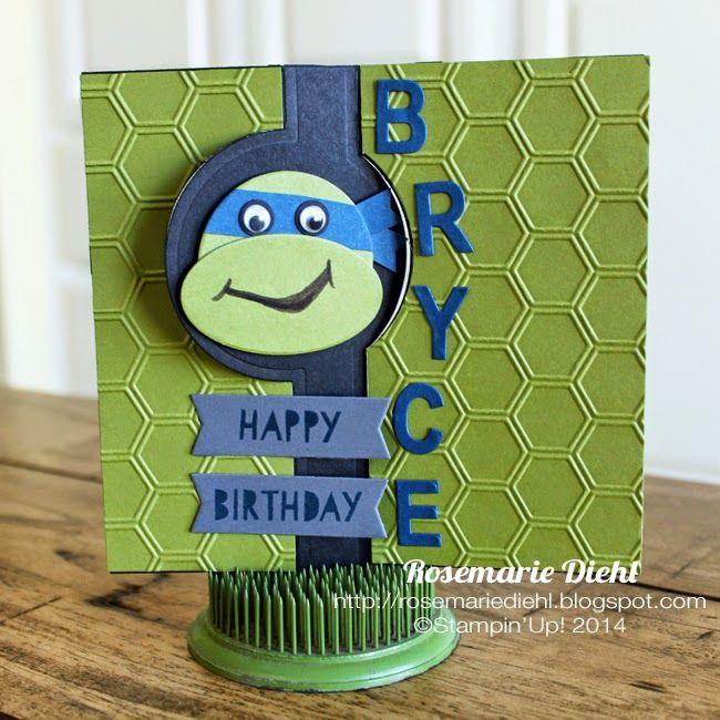 Rose S World Teenage Mutant Ninja Turtles Birthday Card Teenage Mutant Ninja Turtle Birthday Ninja Turtle Birthday Kids Birthday Cards