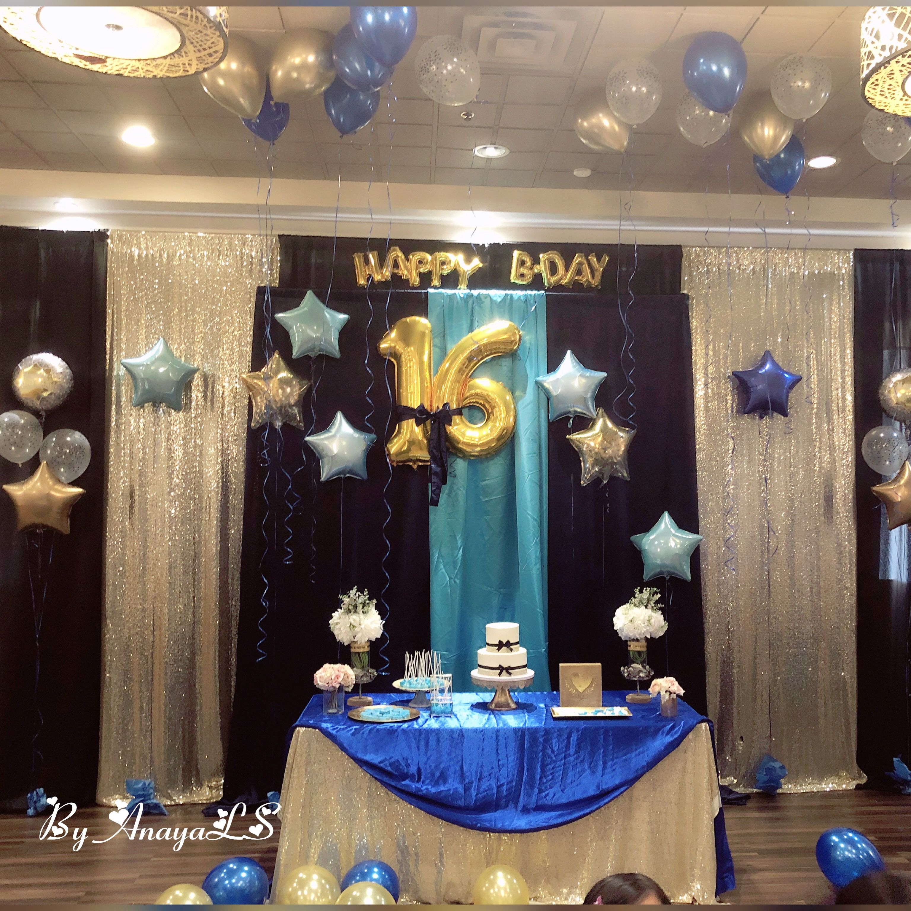All Decor Was Set On Black Gold And Shade Of Blues Yet I Decided
